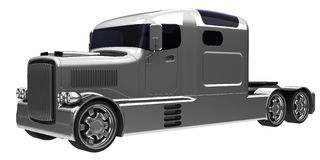 Truck. Streamlined american style truck three quarter view Royalty Free Stock Photo