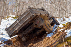 Truck stuck in a dirt Stock Photography