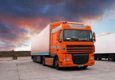 Truck at sunet Royalty Free Stock Photo