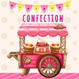 Truck with sweets, holiday decoration Royalty Free Stock Photos