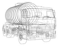Truck with tank concept. Vector Stock Photography