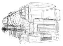 Truck with tank concept. Vector Stock Photos