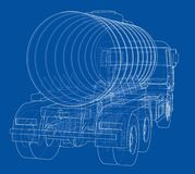Truck with tank concept. Vector Stock Images