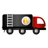 Truck tank oil icon. Vector illustration design Stock Photo