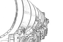 Truck with a tank for the transport of petroleum Stock Images