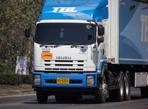 Truck of TBL. Thai Beverage Logistic. Chiangmai, Thailand - February 25 2019: Truck of TBL. Thai Beverage Logistic. On road no.1001, 8 km from Chiangmai city stock photography
