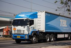 Truck of TBL. Thai Beverage Logistic. Chiangmai, Thailand - February 25 2019: Truck of TBL. Thai Beverage Logistic. On road no.1001, 8 km from Chiangmai city stock photo