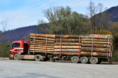 Truck with timber Royalty Free Stock Photo