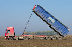 Truck tipping stock photo
