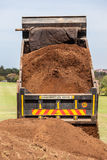 Truck Tipping Sand  Stock Photography