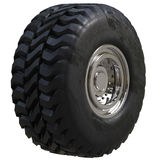 Truck tire isolated Royalty Free Stock Images