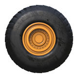 Truck tire isolated Royalty Free Stock Photos
