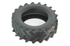 Truck tire or tractor tyre closeup Royalty Free Stock Image
