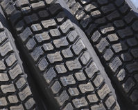 Truck Tires. Detail Stock Photo