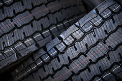 Truck tires with large tread Stock Photos