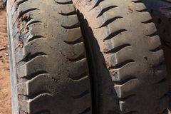 Truck tires. Stock Photos