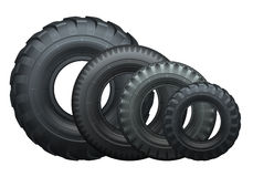 Truck tires. Tire for truck or tractor side view. Vector isolated illustration Royalty Free Stock Images