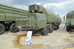 Truck to ensure alerting of strategic missile complex. KUBINKA, MOSCOW OBLAST, RUSSIA - JUN 16, 2015: Truck to ensure alerting of strategic missile complex Topol Stock Images