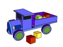 Truck toy Royalty Free Stock Photo