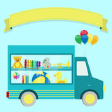 Truck with toys Stock Photography