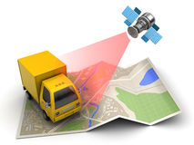 Truck tracking Royalty Free Stock Images