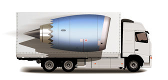 Truck - Tracking system - Packages delivery Stock Photos