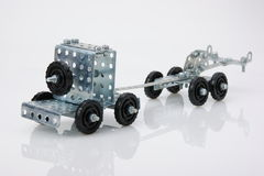 Truck tractor toy - metal kit Royalty Free Stock Photo