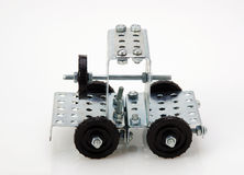 Truck tractor toy - metal kit for construction on white backgrou Royalty Free Stock Image