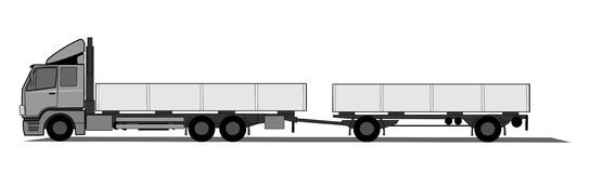 Truck with trailer Royalty Free Stock Photos