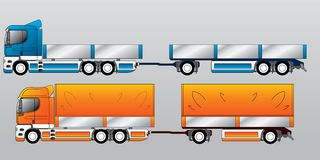 Truck with trailer Stock Photo