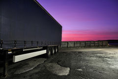 Truck trailer Stock Photo