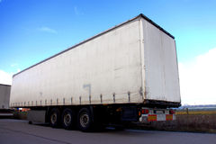 Truck trailer Stock Image