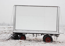 Truck trailer with billboard Royalty Free Stock Photography