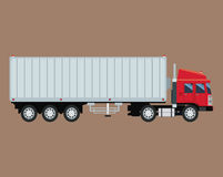 Truck trailer container delivery transport Stock Images