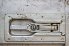 Truck trailer door handle Stock Photography
