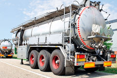 Truck trailer with fuel container Royalty Free Stock Image