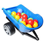 Truck trailer full of colorful balls Royalty Free Stock Image