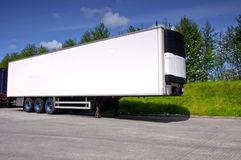 Truck trailer for haulage transporting Royalty Free Stock Image