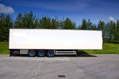 Truck trailer for haulage transporting Stock Images