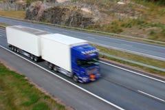 Free Truck Trailer In Full Speed Stock Image - 26591741
