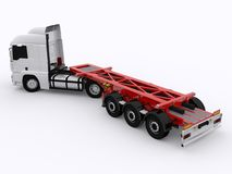 Truck and Trailer isolated. Truck with white trailer isolated Stock Image