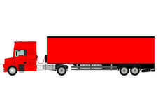 Truck and trailer Royalty Free Stock Photo