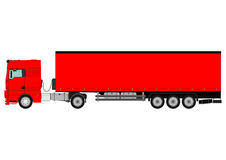 Truck and trailer Stock Image