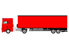Truck and trailer Stock Images