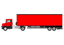 Truck and trailer Royalty Free Stock Images