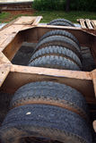 Truck Trailer Tires Royalty Free Stock Images