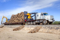 Truck-Train Royalty Free Stock Images