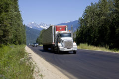 Truck on trans canada highway  1 Stock Images