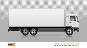 truck on transparent background. Semi truck template for car branding and advertising.  cargo vehicle on transparent background. All layers and groups well Stock Images