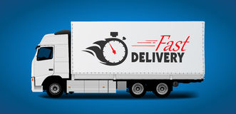Truck transport - fast delivery Stock Photos